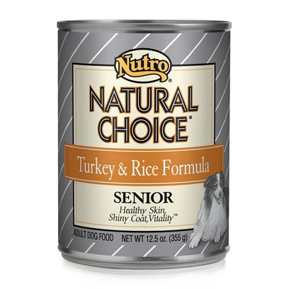 Nutro Presents Nutro Natural Choice Senior Dog Turkey/Rice 12.5oz Cans/Case of 12. Considering your Senior Dog's Needs, Nutro Natural Choice Senior Dog Food has been Prepared in a Holistic Manner which Guarantees he Gets the Nutrient he Needs in his Golden Years. Packed with all the Vitamins and Minerals Needed to Maintain Quality of Life, this Meal is Rich in Protein and Contains Vitamin E to Encourage Stronger Muscles and Maintain Vitality. As Dogs Age their Nutrient Needs Change and Finding a Food to Meet New Needs can be Difficult. This is where Nutro Natural Choice Senior Comes In. With its Different Formulas for Large to Small Breeds, and Featuring Different Flavors Like Chicken and Turkey and Rice, Nutro Natural Choice Dog Food is Simply a Delicious and Nutritious Way to Care for your Dog in Old Age. Primary Protein Source Turkey Primary Carb Source Turkey Analysis Crude Protein (Minimum) 7.00%Crude Fat (Minimum) 4.50%Crude Fiber (Maximum) 3.00%Moisture (Maximum) 78.00%Linoleic Acid (Minimum) 0.90%Zinc (Minimum) 60 Mg/Kgascorbic Acid (Vit. C) (Minimum)* 15 Mg/Kgglucosamine (Minimum)* 190 Mg/Kgchondroitin Sulfate (Minimum)* 150 Mg/Kg*not Recognized as an Essential Nutrient by the Aafco Dog Food Nutrient Profiles. [36027]