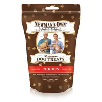 Newman's Own Presents Newman's Own Organics Chicken Dog Treats Small-10oz. You should Neither Hesitate nor Speculate over what youRe Really Feeding your Dogs, Especially when youRe Rewarding them with a Treat. These Organic Chicken Dog Treats ArenT just Vaguely Organic theyRe Usda Certified Organic. your Dogs Love Snacks Whether theyRe Healthy or Not. Why not Treat them to Something Healthy? No Less than 95% of the Ingredients in these Treats are Usda Verified Organic. ItS no Surprise that Food with Paul NewmanS Endorsement is as Genuine as was the Man Himself. [36090]