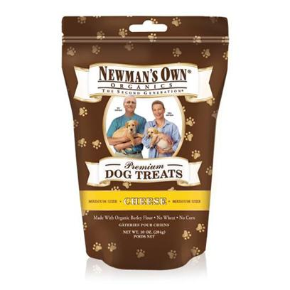 Newman's Own Presents Newman's Own Organics Cheese Dog Treats-10oz Small Treats 10oz. One of the Healthiest and Safest Treats for your Dog on the Market Today is NewmanS Own Organics Dog Treats. Made from Organic Ingredients, these Treats are Packed with Nutrients to Boost your PetS Immune System and Keep her Happy and Healthy. Available in Great Flavors Like Chicken, Cheese, Peanut Butter, Salmon and Sweet Potato, Turkey and Sweet Potato, Chicken and Rice, and Chicken and Vegetables, your Dog will do Anything for just One More. Nutritious and Delicious, NewmanS Own Organics Dog Treats are the Perfect Option to Encourage Good Behavior in your Dog. Primary Protein Source Chicken Primary Carb Source Chicken Analysis Crude Protein 11.0% (Min) Crude Fat 8.0% (Min) Crude Fiber 6.0% (Max) Moisture 10.0% (Max) [36094]