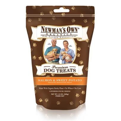 Newman's Own Presents Newman's Own Organics Salmon/Sweet Potato Dog Treats 13oz. One of the Healthiest and Safest Treats for your Dog on the Market Today is NewmanS Own Organics Dog Treats. Made from Organic Ingredients, these Treats are Packed with Nutrients to Boost your PetS Immune System and Keep her Happy and Healthy. Available in Great Flavors Like Chicken, Cheese, Peanut Butter, Salmon and Sweet Potato, Turkey and Sweet Potato, Chicken and Rice, and Chicken and Vegetables, your Dog will do Anything for just One More. Nutritious and Delicious, NewmanS Own Organics Dog Treats are the Perfect Option to Encourage Good Behavior in your Dog. Primary Protein Source Salmon Primary Carb Source Salmon Analysis Crude Protein 11.0% (Min) Crude Fat 9.0% (Min) Crude Fiber 6.0% (Max) Moisture 10.0% (Max) [36099]
