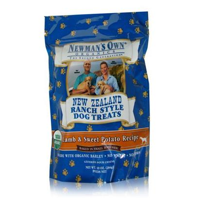 Newman's Own Presents Newman's Own New Zealand Dog Treats-10oz Lamb/Sweet Potato. Keeping your Dog'S Health in Mind, Newman'S Own Gives us New Zealand Treats. Made from Quality Natural Ingredients, these Treats are Packed with the Nutrients Needed to Help Keep your Dog Happy and Healthy. Available in Great Flavors Like Beef and Barley, Beef and Vegetable, Lamb and Barley, and Lamb and Sweet Potato, Each Bite Encourages Optimum Performance Whether in Training or Playing. Newman'S Own New Zealand Treats are the Perfect Choice for your Favorite Dog. Primary Protein Source Lamb Primary Carb Source Lamb Analysis Crude Protein 11.0% (Min) Crude Fat 8.0% (Min) Crude Fiber 6.0% (Max) Moisture 10.0% (Max) [36100]