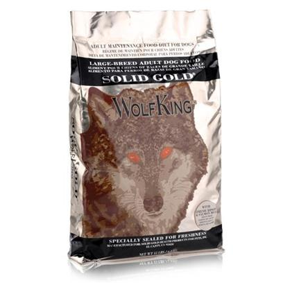 Solid Gold Presents Solid Gold Wolf King-Large Breed Adult Dry Dog Food (Bison) 15lb Bag. Large Breed, Gluten Free Adult Dog Food Made with Bison and Ocean Fish Meal. [36128]