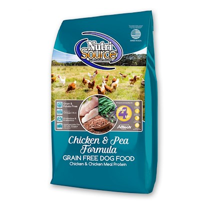 Tuffy's Presents Tuffy's Pet Nutrisource Chicken Formula Grain Free Dry Dog Food 30lb Bag. Nutrisource Chicken Formula Grain Free Provides Super Premium Nutrition in a Scientifically Formulated Easy to Digest Food. Real Chicken is the #1 Ingredient that Features Excellent Palatability, Digestibility, and Tastes Dogs Love. Chicken is a Source of High Quality Proteins to Help Maintain your Dogs Muscle Mass and Strength. Chicken Formula Grain Free Features the Nutrisource Exclusive Good 4 Life System and is Made with the Finest Quality Ingredients Available. Nutrisource Chicken Formula Grain Fee Combines Chicken and Carefully Selected Ingredients in the Precise Blend to Balance all Essential Nutrients Necessary for Optimum Health, Well Being and Long Life. Readily Available Nutrients in Chicken Go to Work on the Inside, Resulting in Less Waste. [36155]