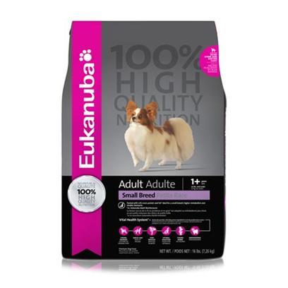 P&amp;G Presents Eukanuba Adult Small Breed Dry Dog Food 28 Lbs. A Healthy Meal Designed for your DogS Nutrient Needs, EukanubaS Dog Food is Packed with all the Nutrients Needed to Keep your Dog Healthy and Strong. Made from only Trusted Ingredients, Eukanuba Presents Formulas that Fit the Needs of Dogs of all Different Ages and Breeds. Available in Great Flavors Like Wild Salmon, Lamb, Wild Turkey, Wild Venison and Rice, there is a Meal for Every Dog! Delicious and Nutritious, EukanubaS Dog Foods are Carefully Made to Delight Taste Buds. A Great Way to Spoil your Pet, EukanubaS Dog Food will Surely Make your Pet Wag his Tail for More. 100% Nutrition 0% Fillers Packed with 12% More Protein and Fat* Ideal for a Small Breed's Higher Metabolism and Smaller Stomachs *Vs. Eukanuba Adult Maintenance Chicken is our # 1 Ingredient to Build and Maintain Lean Muscle Mass for Top Body Condition [38000]