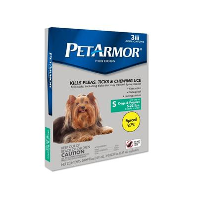 Fidopharm Inc. Presents Petarmor for Dogs Up to 22 Lbs 3 Month Supply. [36326]