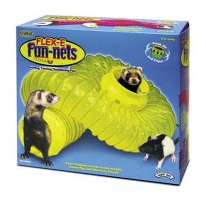 Super Pet Presents Ferretrail Flex-E Fun-Nel 8ft. &quot; Flex-E Fun-Nel is the Ultimate Ferret Exerciser! Flex-E Fun-Nel Stretches into 8 Feet of Tunneling Fun for your Favorite Furry Friend. Use a Ferretrail Connector Ring, Item #62226 (Sold Separately), to Connect Two Flex-E Fun-Nels to Each Other. Flex-E Fun-Nels Attach Directly to Ferretrail Tubes, Elbows, and Tees Creating a Playground System for Ferrets and Other Pets. Flex-E Fun-Nels can also be Attached to Passageway Connectors, Item #'S 62228-29 Sold Separately, Giving your Pet Access into and out of their Care Home.&quot; 8 Feet Long [36368]
