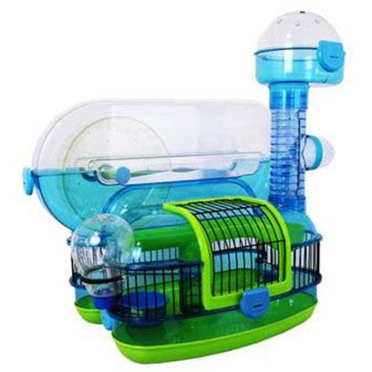 Jw Pet Company Presents Petville Habitat Roll-a-Coaster. Also Features a Second Story Loft, Petting Pod, Durable Food Dish, Wraparound Wire Wall, Lookout, Modular, Add-a-Feature Design and the Dwarf Hamster Tube Especially Made for Extra Small Pets. [36381]