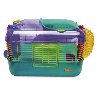 Super Pet Presents Crittertrail 'One' Home 16 X 10 10'h (Multi-Color). &quot; Crittertrail One is the World Best Selling Hamster Home. Crittertrail One Comes Complete with a Water Bottle, Food Dish, Exercise Wheel and a Fun-Nels Climbing Tube. Crittertrail One Offers Spacious Living Space for all Hamsters, Gerbils or Mice and it Features Super Pet's Unique &quot;Petting Zone.&quot; the Cool &quot;Petting Zone&quot; is a Special Area of the Home that you can Open so you can Pick Up your Pet or Provide them with a Tasty Treat. Even if your Favorite Critter Isn't in the Petting Zone, there is an &quot;&quot;E-Z&quot;&quot; Access Doorway on the Crittertrail One Making Access to your Pet Easy and Simple. Crittertrail One has Six Locations where Accessories can be Attached to the Home so Add as Many Fun Accessories as you Can.&quot; &quot;16&quot;&quot;L X 10.5&quot;&quot;W X 11&quot;&quot;H&quot; [36390]
