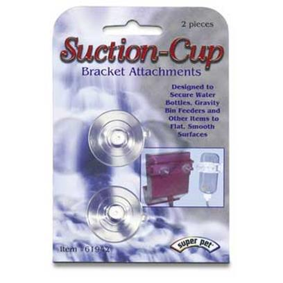 "Super Pet Presents Flatbac Suction Cup Bracket. "" Super Pet's Suction-Cups Attach Directly to the Snap-Lock Bracket that is Included with Every 'Flat-Bac' Water Bottle and Gravity Bin Feeder. Suction-Cups Allow you to Secure a Flat-Bac Water Bottle or Gravity Bin Feeder Inside any Flat Glass, Plastic or Acrylic Enclosure. Every Package Includes Two Suction-Cups."" 2-Pack [36393]"