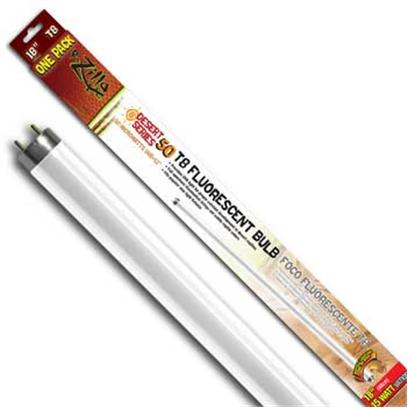 R-Zilla Presents Desert Flo Bulb 15w 18' T8. Delivers Uvb Light Levels Essential for Desert Reptile Health Full-Spectrum Illumination Accents Subtle Pet Colors Styles to Fit Fluorescent, Incandescent Light Fixtures Bring a Ray of Desert Sunshine to Arid Reptile Habitats when it Comes to the Bone Health of a Desert Reptile, the Extra Daily Dose of Uvb Light Provided by a Desert 50 Bulb (50 Microwatts Per Second/Cm2) is as Essential as Proper Food and Water for Long Term Strength. The Desert 50 Family of Bulbs also Provide Needed Uva Light, Plus Visible-Spectrum Illumination that Makes Skin Coloration More Vivid and Viewable. Get all this in a Family of High-Efficiency Bulbs Designed to Fit Most Major Fluorescent Fixture Types (Compact, T5 and T8). Incandescent Lamp Users also have the Option of a Coil Bulb that Screws into a Standard Light Socket. Desert 50 Bulbs are Designed for 3500 Hours or Twelve Full Months of Average Use. Size-15 Watt T8 18 Inch / Dimensions-L24.50 W2.00 H1.37 [36420]