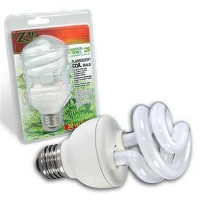 R-Zilla Presents Tropical Coil Bulb Watts 20. Delivers Extra Uvb Light Essential for Strong Bones Color Corrected Visible Light Brightens Reptile Colors Designed for Both Fluorescent, Incandescent Light Fixtures Recreate the Healthy Light of the Tropical Rainforest Standard Terrarium Bulbs Can't Deliver the Heightened Levels of Uvb Radiation Native to a Tropical Habitat, Leaving Rainforest Reptiles Deficient in a Vital Component of Healthy Bone Development. Tropical 25 Bulbs Correct this Deficiency with a Full Dosage of Uvb (25 Microwatts Per Second/Cm2) Along with Essential Uva Light. As a Bonus, Tropical 25's Full-Spectrum Visible Light Output Helps Bring out Subtle Colors in a Reptile's Skin that Makes Everyday Viewing More Dramatic. Tropical 25 Capability is Built into R-Zilla's Complete Family of High Efficiency Bulbs for Most Types of Fluorescent Fixtures (Compact, T5 and T8.) Incandescent Bulb Users also have the Option of a Coil Bulb that Fits a Standard Light Socket. Tropical 25 Bulbs are Designed for 3500 Hours or Twelve Full Months of Average Use. Size-20 Watt Coil / Dimensions- L7.50 W5.00 H2.87 [36430]