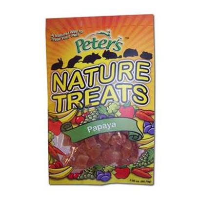 Marshall Presents Mp Peters Nat Treat Natural Treats-Papaya Pieces 1oz. Provides a Natural and Healthy Dried Treat for your Favorite Pet to Snack on Great for Hamsters, Rabbits, Guinea Pigs, Gerbils, Prairie Dogs, Chinchillas, Mice, Rats and More. 5 Oz [36486]