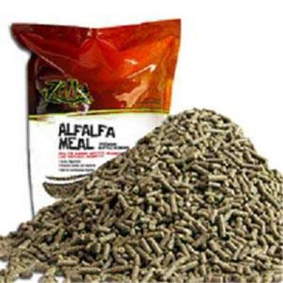 R-Zilla Presents R-Zilla (Rzil) Alfalfa Meal Bedding 5lb. Easily Digestible  Reduces Germs and Bacteria  Safe for Carnivorous Reptiles Readily Digestible...Unless You're a Bacterium Carnivorous Reptiles Need a Bedding that Won't be Harmful when Accidentally Digested. Alfalfa Meal Provides this Trait, Plus a Reptile-Safe Bacteriostatic Agent that Keeps Both Bacterial and Germ Growth to a Minimum. The Result is a Healthier Habitat that Stays Fresher Longer. This 100% Natural Material is Made in the Usa, and its Biodegradable, Herbivorous Composition Makes it a Rich Addition to any Compost. Size- 5lbs. / Dimensions- L5.50 W8.00 H12.50 [36514]