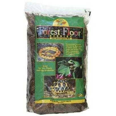 "Zoo Med Laboratories Presents Zoo Forest Floor Bedding Red Cypress 8 Quart. Zoo Med's Forest Floor is a Natural Cypress Mulch Substrate. It Provides your Terrarium with a Natural ""Forest Floor"" Look while Retaining Moisture to Provide Humidity to the Enclosure. Great for Snakes, Amphibians, or Tropical Species of Tortoises. [36549]"