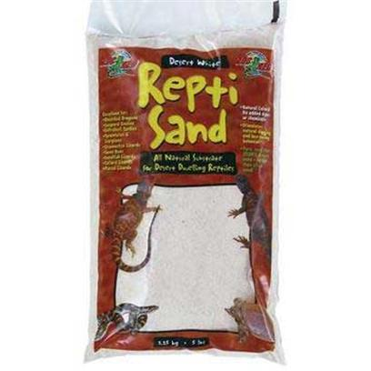 Zoo Med Laboratories Presents Zoo Repti Sand White Repti-Sand Substrate-Desert 10lb. Our Repti Sand is Available in Two Natural Colors with no Added Dyes or Chemicals. It Stimulates Natural Digging and Burrowing Behavior and is an Excellent Heat Conductor. Repti Sand Creates a Very Naturalistic and Attractive Environment for Desert Reptile Species. Great for Bearded Dragons, Sand Boas, Soft Shell Turtles, Etc. [36564]