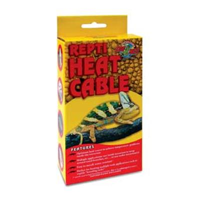 Zoo Med Laboratories Presents Zoo Heat Cable Repti-Care 50watt 23ft. Zoo Med's New Repti Heat Cable Allows you to Put the Heat Right where you Need It. Wrap it Around Branches or Cage Furniture, or Use it Underneath the Tank or in Breeder Racks. Flexible, Water Resistant, and Durable, Repti Heat Cable has Numerous Uses for the Professional or the Hobbyist. Use in Wood, Plastic, or Glass Terrariums. Low Wattage, and Very Economical to Operate. 50 Watt is 23' (7m). [36587]