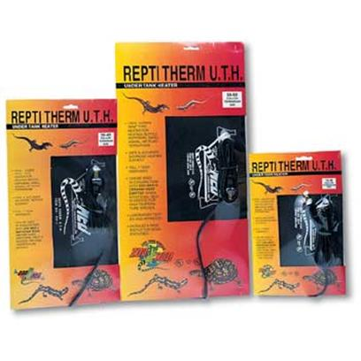 "Zoo Med Laboratories Presents Zoo Undertank Heater Repti-Therm Heater-Mini (under 10gal). Repti Therm U.T.H. Under Tank Heaters are an Ideal 24 Hour Primary or Secondary Heat Source for Tropical or Temperate Reptilian Species. All of Zoo Med's under Tank Heaters are Ul/Cul Approved and Contain a Solid State Nichrome Heating Element. These under Tank Heaters Permanently Adhere to your Terrarium, Forming a Solid Bond for Optimum Heat Transfer. Size 6""X8"" (15cm X 20cm) 10-20 Gallon Tank. [36598]"