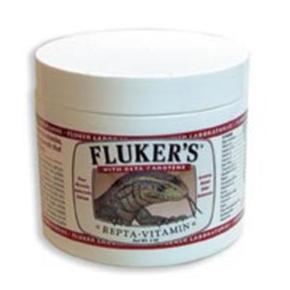 Fluker Labs Presents Fluker Labs (Fluk) Repta Vitamins Repta-Vitamin 1.5oz. Fluker's Repta-Vitamin is a Multi-Vitamin Containing Beta Carotene and Essential Vitamins, Amino Acids (from Pure Crystalline Form), Trace Elements and Minerals that your Pet Needs. Contains Potent Color Enhancers to Bring out your Pet's Natural Beauty. [36726]