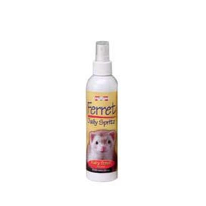 Marshall Presents Ferret Daily Conditioning Spritz 8oz. Great for Daily Use Between Shampoos. Unique Blend of Conditioners, Aloe Vera, Odor Modifiers and Neutralizers. Conditions and Deodorizes Ferret's Coat while Enhancing Coat Color and Appearance. 8 Oz. [36802]
