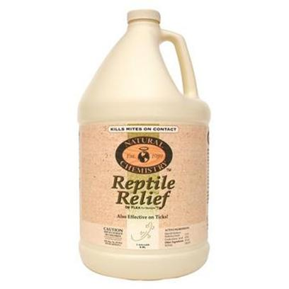 Natural Chemistry Presents Natural Chemistry Reptile Relief 1gallon. Reptile Relief Kills Mites on Contact! Can be Applied Directly to Reptile. The only Epa Registered Mite Product that Requires no Warnings on the Label. Pyrethrin/Permethrin Free. Gentle, yet Highly Effectiveunconditionally Guaranteed! [36810]
