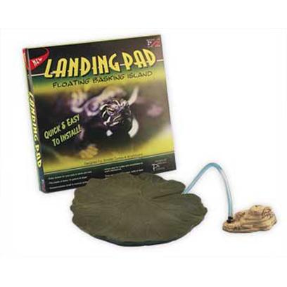 Conceptual Creations Presents Landing Pad. A Free-Floating (Tethered) Lily Pad for Use by Small Aquatic Turtles this Lily Pad Floats Around the Top of your Waterline and is Tethered to a Rock (Included). Perfect for Use with Smaller Aquatic Turtles; will Support Nearly a Half-Pound and Still Float. Dishwasher Safe, Non-Toxic, Color Safe (not Dipped or Painted). 10x10x1.5 [36831]