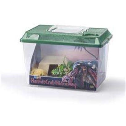 "Lee's Presents Hermit Crab Hideaway Kit (11 X 7 8'h). The Ideal Environment for Hermit Crabs. Kit Includes, Hermit Hut, Detachable Night-Sky Scene, Sponge for Watering, Plastic Plant, Natural Gravel,and Medium Kritter Keeper. Size 11-3/4"" Long X 7-3/4"" Wide X 8"" High [36845]"