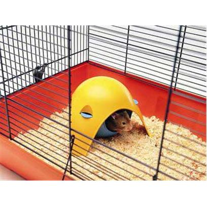 Lixit Presents Critter Space Pod Hideout Small. Housing for Hamsters, Mice, Sugargliders, Small Birds and Other Pocket Pets. Can Hang from the Top of Wire Cages or Turn over for Use on the Bottom of the Cage. Colors may Vary [36878]