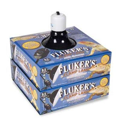 Fluker Labs Presents Fluker Labs (Fluk) Dimmable Clamp Lamp 5.5'. Fluker's Clamp Lamp with Dimmable Switch is Ideal for Adjusting the Heat and Light for your Pet. The Lamp Comes Equipt with Ceramic Sockets that are Rated for Incandescent Bulbs (150 Watt Maximum) [36939]