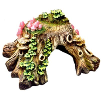 Blue Ribbon Presents Blue Ribbon (Br) Tree Stump Hideaway Small Resin Ornament-Tree. &quot;Our Tree Stump Features a Large Chamber, Natural Hand-Crafted Textures and Colors. &quot;Produced from Safe and Durable Poly-Resin Material 7.0 X 6.5 X 4.0 1 [36974]
