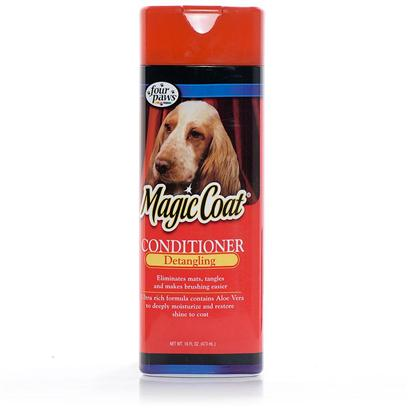 Four Paws Presents Magic Coat Tangle Removing Rinse 16oz. Magic Coat Tangle Removing Rinse Relieves Matting and Tangling while it Softens and Conditions your Pet's Coat, Leaving it Manageable and Easy to Brush or Comb. [37026]