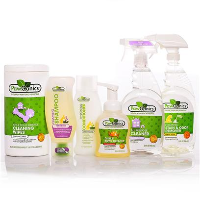 Pawganics Presents Pawganics Healthy Home Savings Bundle Package. If You're New to the Pawganics Brand, this Healthy Home Bundle is a Great Place to Start. Whether you Like the Calming Scent of Lavender or the Bright Scents of Lemon and Tangerine (or all of them Like we do), You'll Get a Chance to Try them All. What's More, You'll have a Full Arsenal of Products to Clean Every Inch or your House--Hey at Least the Products Smell and Work Great--That Even Includes Shampoo and Conditioner for a Clean Pet with a Beautiful Coat. And because they're from Pawganics, you can Feel Great Knowing that Each Product is Natural, Safe and Effective for your Pet, your Home and the Entire Family. Our Healthy Home Savings Bundle Includes  Pawganics all Purpose Cleaner O Pawganics all-Purpose Household Cleaner Utilizes Natural, Non-Toxic Ingredients that Perform as Well as Conventional Cleaners. Safe for Use on any Hard Surface Throughout your Home. Works Great on Kennels, Crates, in the Car, Etc.  Pawganics Foaming Stain &amp; Odor Remover O Pawganics Foaming Stain &amp; Odor Remover Fights Tough Pet Accidents and Smells Natural. Our Powerful Instant Foaming Formula Penetrates Deep Down and Eliminates the Worst of Smells, Helping to Discourage your Pet from Resoiling.  Pawganics Foaming Shampoo Soothing Formula O the Days of Struggling with Wet Dogs, Bulky Bottles of Shampoo and Hard to Rinse Formulas are Over! Pawganics Foaming Shampoo Revolutionizes Bath Time with its Exclusive, One-Handed Foaming Applicator. Simply Pop Open and Apply the Perfect Amount of Shampoo Right where it's Needed. The Clean Rinsing Formula Requires Less Water and Won't Leave any Residue Behind. Formulated with Natural Plant-Based Ingredients, which are Non-Toxic and Hypoallergenic, Pawganics Gentle Formula Moisturizes and Soothes your Pet's Sensitive and Irritated Skin, Leaving Behind a Fresh Lavender Scent.  Pawganics Hydrating Conditioner O Pawganics Hydrating Conditioner Moisturizes and Protects your Pets Coat Leaving it Super Soft and Shiny. Specially Formulated with Natural Plant-Based Ingredients which are Gentle and Non-Toxic. Our Hydrating Formula Nourishes the Skin and Coat Helping to Eliminate Mats and Tangles.  Pawganics Foaming Dish &amp; Bowl Soap Tangerine O Pawganics Foaming Dish &amp; Bowl Soap Provides Natural Cleaning Power with a Unique Foaming Applicator that Reduces the Amount of Both Soap and Water yet Cleans as Well as Conventional Gel Based Liquid Soap. Safe to Use on Stainless Steel, Ceramic or Plastic Bowls and Automatic Watering Devices.  Pawganics Toys and Solid Surface Wipes O Pawganics Toy Cleaner Breaks Up Drool, Dirt and Grime without Leaving Harsh Chemicals Behind. Safe, Effective and Non-Toxic for Pets, People and the Environment. Non-Caustic, no Dyes, Dioxane Free. [37039]