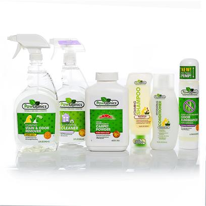 Pawganics Presents Pawganics Stain and Odor Savings Bundle Package. The Winter Air may be Full of Cheer, but Inside Things can Get a Little Stuffy, Especially when You're a Pet Owner. Luckily We've Put Together this Custom Package of Effective and Green Odor-Fighting Products from Pawganics. They will Add a Freshness and Lightness to your Winter Home, all while Keeping your Pet Safe. Our Stain &amp; Odor Savings Bundle Includes  Pawganics all Purpose Cleaner O Pawganics all-Purpose Household Cleaner Utilizes Natural, Non-Toxic Ingredients that Perform as Well as Conventional Cleaners. Safe for Use on any Hard Surface Throughout your Home. Works Great on Kennels, Crates, in the Car, Etc.  Pawganics Foaming Stain &amp; Odor Remover O Pawganics Foaming Stain &amp; Odor Remover Fights Tough Pet Accidents and Smells Natural. Our Powerful Instant Foaming Formula Penetrates Deep Down and Eliminates the Worst of Smells, Helping to Discourage your Pet from Resoiling.  Pawganics Foaming Shampoo Oatmeal Formula O the Days of Struggling with Wet Dogs, Bulky Bottles of Shampoo and Hard to Rinse Formulas are Over! Pawganics Foaming Shampoo Revolutionizes Bath Time with its Exclusive, One-Handed Foaming Applicator. Simply Pop Open and Apply the Perfect Amount of Shampoo Right where it's Needed. The Clean Rinsing Formula Requires Less Water and Won't Leave any Residue Behind. Pawganics Oatmeal Shampoo's Unique Instant Foam Delivery System Allows for Quick, Easy and Uniform Application. This Oatmeal Protein Formula Moisturizes Dry and Itchy Skin Leaving your Pet's Coat Soft and Silky. Formulated with Natural Plant-Based Ingredients our Soothing Shampoo is Non-Toxic and Hypoallergenic, Offering a Wonderful Vanilla Scent.  Pawganics Hydrating Conditioner O Pawganics Hydrating Conditioner Moisturizes and Protects your Pets Coat Leaving it Super Soft and Shiny. Specially Formulated with Natural Plant-Based Ingredients which are Gentle and Non-Toxic. Our Hydrating Formula Nourishes the Skin and Coat Helping to Eliminate Mats and Tangles.  Pawganics Fabric and Air Freshener &amp; Odor Eliminator O Pawganics Air Freshener and Odor Eliminator is a Must Household Cleaning Supply when Having Pets in the House! Pawganics Air Freshener and Odor Eliminator Neutralize Tough Odors Naturally Unlike Other Air Fresheners which Mask Odors with Harsh Chemicals and Pollutants. You will Love the Natural Lavender Vanilla Scent. This Product Keeps your House Smelling Fresh and Truly Eliminates Odors, doesn't just Mask Them! It Comes in a Non-Aerosol Pump Bottle, no Propellants and Contaminant Free. Keep your House Smelling Fresh.  Pawganics Odor Neutralizing Carpet Powder O Pawganics Odor Neutralizing Carpet Powder Deodorizes and Eliminates Deep Down Odors Using the Power of Baking Soda. Safe, Non-Toxic Carpet Powder Leaves no Harsh Fresheners Behind. [37041]