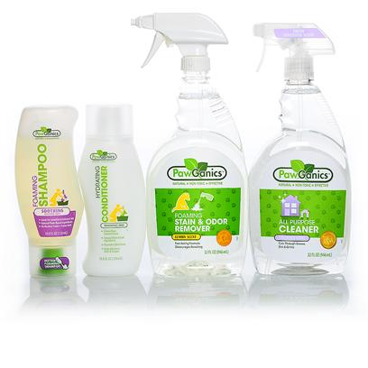 Pawganics Presents Pawganics Double Value Sale Soothing Package. What's Better than Buying One Great Natural Cleaning Product (Safe for your Pets and Whole Family!) and Getting One Free? Buying Two, Getting Two Free, and in just One Click. These Buy 2, Get 2 Free Bundles are the Perfect Way to Get to Know Pawganics at a Great Price. Pawganics Double Value Soothing Formula Sale Includes Pawganics Foaming Shampoo Soothing Formula Pawganics Hydrating Conditioner  Pawganics Foaming Stain &amp; Odor Remover  Pawganics all Purpose Cleaner Pawganics Double Value Puppy Formula Sale Includes  Pawganics Foaming Shampoo Puppy Formula Pawganics Hydrating Conditioner  Pawganics Foaming Stain &amp; Odor Remover  Pawganics all Purpose Cleaner Pawganics Double Value Oatmeal Formula Sale Includes  Pawganics Foaming Shampoo Oatmeal Formula Pawganics Hydrating Conditioner  Pawganics Foaming Stain &amp; Odor Remover  Pawganics all Purpose Cleaner Product Descriptions Pawganics Foaming Shampoo Soothing Formula  the Days of Struggling with Wet Dogs, Bulky Bottles of Shampoo and Hard to Rinse Formulas are Over! Pawganics Foaming Shampoo Revolutionizes Bath Time with its Exclusive, One-Handed Foaming Applicator. Simply Pop Open and Apply the Perfect Amount of Shampoo Right where it's Needed. The Clean Rinsing Formula Requires Less Water and Won't Leave any Residue Behind. Formulated with Natural Plant-Based Ingredients, which are Non-Toxic and Hypoallergenic, Pawganics Gentle Formula Moisturizes and Soothes your Pet's Sensitive and Irritated Skin, Leaving Behind a Fresh Lavender Scent. Pawganics Foaming Shampoo Puppy Formula  the Days of Struggling with a Wet Dog, Bulky Bottles of Shampoo and Hard to Rinse Formulas are Over! Pawganics Foaming Shampoo Revolutionizes Bath Time with its Exclusive, One-Handed Foaming Applicator. Simply Pop Open and Apply the Perfect Amount of Shampoo Right where it's Needed. The Clean Rinsing Formula Requires Less Water and Won't Leave any Residue Behind. Follow with Pawganics Hydrating Conditioner for a Smooth, Shiny Coat. Pawganics Puppy Shampoo's Unique Instant Foam Delivery System Allows for Quick, Easy and Uniform Application. Our Natural, Plant-Based Formula is on-Toxic and Hypoallergenic, and Leaves Puppy's Delicate Coat Soft and Fluffy. The Fragrance Free Shampoo is also Tearless. Pawganics Foaming Shampoo Oatmeal Formula  the Days of Struggling with Wet Dogs, Bulky Bottles of Shampoo and Hard to Rinse Formulas are Over! Pawganics Foaming Shampoo Revolutionizes Bath Time with its Exclusive, One-Handed Foaming Applicator. Simply Pop Open and Apply the Perfect Amount of Shampoo Right where it's Needed. The Clean Rinsing Formula Requires Less Water and Won't Leave any Residue Behind. Pawganics Oatmeal Shampoo's Unique Instant Foam Delivery System Allows for Quick, Easy and Uniform Application. This Oatmeal Protein Formula Moisturizes Dry and Itchy Skin Leaving your Pet's Coat Soft and Silky. Formulated with Natural Plant-Based Ingredients our Soothing Shampoo is Non-Toxic and Hypoallergenic, Offering a Wonderful Vanilla Scent. Pawganics Hydrating Conditioner  Pawganics Hydrating Conditioner Moisturizes and Protects your Pets Coat Leaving it Super Soft and Shiny. Specially Formulated with Natural Plant-Based Ingredients which are Gentle and Non-Toxic. Our Hydrating Formula Nourishes the Skin and Coat Helping to Eliminate Mats and Tangles. Pawganics Foaming Stain &amp; Odor Remover  Pawganics Foaming Stain &amp; Odor Remover Fights Tough Pet Accidents and Smells Natural. Our Powerful Instant Foaming Formula Penetrates Deep Down and Eliminates the Worst of Smells, Helping to Discourage your Pet from Resoiling. Pawganics all Purpose Cleaner  Pawganics all-Purpose Household Cleaner Utilizes Natural, Non-Toxic Ingredients that Perform as Well as Conventional Cleaners. Safe for Use on any Hard Surface Throughout your Home. Works Great on Kennels, Crates, in the Car, Etc. [37047]