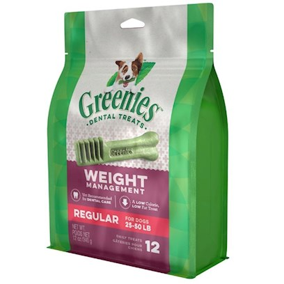 Greenies Presents Greenies Lite Regular for Dogs 25-50 Lbs 12 Count. Greenies Lite  Canine Dental Chews are Nutritious and Calorie Friendly Specifically Formulated to Help Promote Dental Care while Providing Essential Vitamins, Antioxidants and Minerals. Greenies Lite  Dental Chews are Naturally Made with Added Vitamins, Minerals, Taurine, and Chlorophyll (Sodium Copper Chlorophyllin) to Provide a Complete Oral Care, and Offer a Nutritionally Complete and Balanced Blend of Highly Soluble and Digestible Proteins for Adult Dogs Based on Aafco Recommendations. If you or your Dog Isn't 100% Satisfied, You'll Receive your Money Back. Guaranteed. Greenies Lite  Dental Chews are Clinically Proven to Clean Dog's Teeth by Fighting Both Plaque and Tartar Buildup, Freshening Breath and Maintaining Healthier Teeth and Gums. Greenies Lite  Dental Chews are Specifically Formulated to Help Clean Dogs' Teeth while also Allowing you to Keep an Eye on his Weight. The Blend of High-Quality Proteins Fortified with Vitamins and Minerals Make Greenies Lite  Dental Chews Nutritionally Complete and Balanced for Adult Dog Maintenance. And Greenies Lite  Dental Chews also Contain Natural Sources of Antioxidants for a Healthy Immune System as Well as the Addition of Vegetable and Fruit Inclusions. [37110]