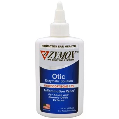 Pet King Brands Presents Zymox Otic Hc 1.0% Enzymatic Solution with Hydrocordisone -- 4 Fl Oz. With 1% Hydrocortisone 1.25 Oz. Biofilm Reducing Formula Works on Resistant Microbes Quicker and More Effectively. Features Increased Potency of the Patented Lp3 Enzyme System Plus Four Additional Biofilm-Reducing Enzymes Formulated to Destroy the Hard-to-Penetrate Biofilm Slime Layer that Protects and Hides Microbes. Engineered to Aid in the Management of the Toughest Chronic Otitis Externa Cases - Those Due to Resistant Organisms, Such as Pseudomonas or Even Mrsa which Form Complex Biofilm. Ideal for Those Cases of Repeated Infection or the Infection that just Won't Resolve. Same Broad Spectrum Antibacterial, Antifungal Properties Plus Biofilm Reduction. [37151]