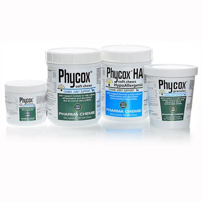 Dvm Pharmaceuticals Presents Phycox Canine Joint Support Hypoallergenic Soft Chews 120 Count. Arthritis Isn't just a Problem for Humans. As your Dog Ages, Inflammation and Osteoarthritis Conditions can Cause Pain and Discomfort for your Pooch. Phycox Canine Joint Support is a Unique Formula Packed with Packed with Antioxidants that Reduce Inflammation in your Dog. Phycox has been Clinically Tested for Efficacy and Veterinarians Trust the Formula for its Unique Benefits. Your Pup will Love the Tasty Treats, and You'll Love Watching her Play Like a Puppy Again. [37192]