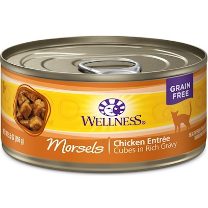 Wellpet Presents Wellness Cubed Chicken Entree 3oz - Pack of 24. 'Water is One of the Most Important Nutrients with Respect to a CatS Overall Wellbeing. Since Cats do not have a Strong Thirst Drive, it is Important for a Cat to Ingest Water with its Food. Packed with the Same Whole Food Nutrition as our Dry Formulas, Wellness Canned Foods are a Delicious Way to Increase your CatS Water Intake. As a Special Treat or as a Part of your Regular Feeding, Wellness Canned Foods are yet Another Tasty Way for your Cat to Eat Healthy. Wellness Canned Cat Cuts Offers a Complete and Balanced Grain Free Meal for Cats. With its Wholesome, Healthy, and Natural Ingredients it is Perfect for Encouraging Hydration to Help Support Urinary Tract Health. Contains no Artificial Colors, Flavors or Preservatives. '&lt; [37236]