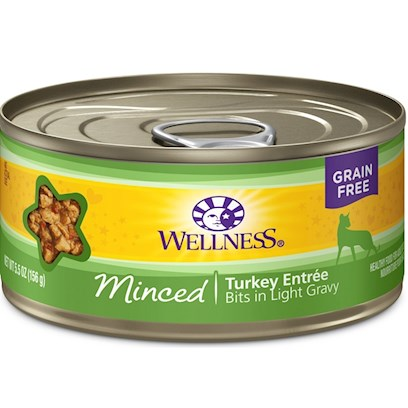 Wellpet Presents Wellness Minced Turkey Entree Canned Cat Food 3oz - Pack of 24. A Taste They'll Love with the Nutrition they Deserve. These Tasty Bits in Rich Gravy Include Natural, Wholesome Ingredients with no Added Artificial Colors, Flavors or Preservatives. This Entrée is a Great Way to Add some Variety to your Cat's Diet, in Addition to Providing an Additional Source of Water for Healthy Hydration!. Wellness Canned Cat Cuts Offers a Complete and Balanced Grain Free Meal for Cats. With its Wholesome, Healthy, and Natural Ingredients it is Perfect for Encouraging Hydration to Help Support Urinary Tract Health. Contains no Artificial Colors, Flavors or Preservatives. [37241]