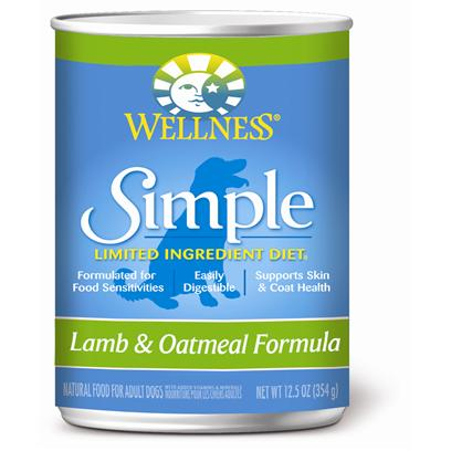Wellpet Presents Wellness Simple Canned Lamb & Oatmeal Formula 12.5oz-Case of 12. 'At Wellness, Every Ingredient Chosen has a Purpose, Especially when it Comes to Dogs with Food Sensitivities. This Natural, Limited-Ingredient Diet Dog Food Recipe Keeps it Simple with a Single Source of Protein and Easily Digestible Carbohydrates, without Extra Fillers or Additives. This Short, yet Complete, List of Key Ingredients Nourishes Simply and Completely from the Inside out with Results you can See. Just Like all Wellness Dog Food Recipes, what Stays out is as Important as what Goes in, Wellness does not Use Wheat, Corn, Soy, Gluten or Artificial Preservatives, Colors or Flavors in this Simple Formula. As Animal Lovers, Nutritionists and Vets, their Mission is to Provide your Pet a Healthy, Happy, Long Life through the Power of Natural Nutrition. Talk to your Vet About this Natural Alternative to Therapeutic Prescription Diets. The Choice for Natural Relief is Simple. Contains no Meat by-Products, Wheat, Gluten, Corn, Dairy, Eggs, Artificial Preservatives, Colors or Flavors' [37263]
