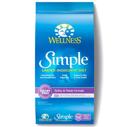 Wellpet Presents Wellness Simple Turkey & Potato Dry Dog Food 26 Lbs. At Wellness, Every Ingredient Chosen has a Purpose, Especially when it Comes to Dogs with Food Sensitivities. This Natural, Limited-Ingredient Diet Dog Food Recipe Keeps it Simple with a Single Source of Protein and Easily Digestible Carbohydrates, without Extra Fillers or Additives. This Short, yet Complete, List of Key Ingredients Nourishes Simply and Completely from the Inside out with Results you can See. Just Like all Wellness Dog Food Recipes, what Stays out is as Important as what Goes in, Wellness does not Use Wheat, Corn, Soy, Gluten or Artificial Preservatives, Colors or Flavors in this Simple Formula. As Animal Lovers, Nutritionists and Vets, their Mission is to Provide your Pet a Healthy, Happy, Long Life through the Power of Natural Nutrition. Talk to your Vet About this Natural Alternative to Therapeutic Prescription Diets. The Choice for Natural Relief is Simple. Contains no Meat by-Products, Wheat, Gluten, Corn, Dairy, Eggs, Artificial Preservatives, Colors or Flavors ' [37266]