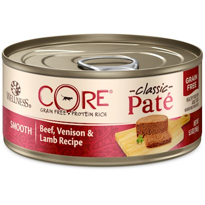 Wellpet Presents Wellness Core Grain Free Beef Venison &amp; Lamb Formula Canned Dog Food 5.5oz-Case of 24. Wellness Core is Based on the Nutritional Philosophy that Pets, Based on their Primal Ancestry, Thrive on a Diet Mainly Comprised of Meat. Each Formula is Packed with a High Concentration of Quality Animal Protein, without Fillers or Grains, Along with a Proprietary Blend of Botanicals and Nutritional Supplements Including Probiotics. Unlike Many Grain-Free Diets, Wellness Ensures the Overall Nutrition Equation Remains Appropriate for Everyday Feeding. Higher Protein can also Mean Higher Fat, Minerals and Calories. By Thoughtfully Selecting Specialized Ingredients and Managing Nutritional Ratios, Wellness Core Delivers Protein-Focused Nutrition - with Balance, not Excess. Wellness Core Grain-Free Beef, Venison &amp; Lamb Formula Contains 20% More Protein than Wellness Chicken Formula. The Formula Features 6 Protein Sources, is Fish Free, and Includes Berries and Botanicals. The Formula is also Grain-Free and Gluten-Free.' ' [37269]