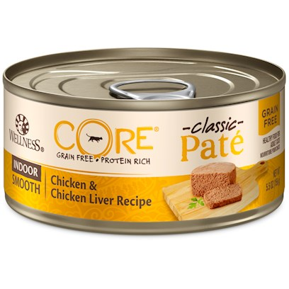 Wellpet Presents Wellness Core Grain Free Formula for Indoor Cats Canned 5.5oz-Case of 24. Wellness® Core® is Based on the Nutritional Philosophy that Pets, Based on their Primal Ancestry, Thrive on a Diet Mainly Comprised of Meat. Each Formula is Packed with a High Concentration of Quality Animal Protein, without Fillers or Grains, Along with a Proprietary Blend of Botanicals and Nutritional Supplements Including Probiotics. Unlike Many Grain-Free Diets, Wellness Ensures the Overall Nutrition Equation Remains Appropriate for Everyday Feeding. Higher Protein can also Mean Higher Fat, Minerals and Calories. By Thoughtfully Selecting Specialized Ingredients and Managing Nutritional Ratios, Wellness Core Delivers Protein-Focused Nutrition - with Balance, not Excess. Wellness Core® Grain-Free Indoor Features Low Calories to Help Achieve and Maintain a Healthy Weight and also Contains More Fiber to Feel Full Longer. The Recipe is Fish Free and Includes Berries and Botanicals. The Formula is also Grain-Free and Gluten-Free.' ' [37271]