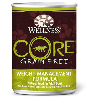 Wellpet Presents Wellness Core Grain Free Weight Management Canned 12.5oz-Case of 12. 'Wellness Core is Based on the Nutritional Philosophy that Pets, Based on their Primal Ancestry, Thrive on a Diet Mainly Comprised of Meat. Each Formula is Packed with a High Concentration of Quality Animal Protein, without Fillers or Grains, Along with a Proprietary Blend of Botanicals and Nutritional Supplements Including Probiotics. Unlike Many Grain-Free Diets, Wellness Ensures the Overall Nutrition Equation Remains Appropriate for Everyday Feeding. Higher Protein can also Mean Higher Fat, Minerals and Calories. By Thoughtfully Selecting Specialized Ingredients and Managing Nutritional Ratios, Wellness Core Delivers Protein-Focused Nutrition - with Balance, not Excess.' [37277]