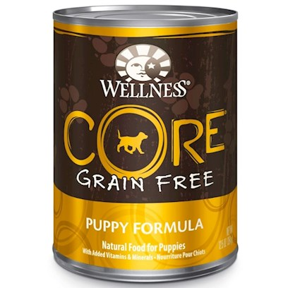 Wellpet Presents Wellness Core Grain Free Puppy Formula Canned 12.5oz-Case of 12. 'Wellness Core is Based on the Nutritional Philosophy that Pets, Based on their Primal Ancestry, Thrive on a Diet Mainly Comprised of Meat. Each Formula is Packed with a High Concentration of Quality Animal Protein, without Fillers or Grains, Along with a Proprietary Blend of Botanicals and Nutritional Supplements Including Probiotics. Unlike Many Grain-Free Diets, Wellness Ensures the Overall Nutrition Equation Remains Appropriate for Everyday Feeding. Higher Protein can also Mean Higher Fat, Minerals and Calories. By Thoughtfully Selecting Specialized Ingredients and Managing Nutritional Ratios, Wellness Core Delivers Protein-Focused Nutrition - with Balance, not Excess.' [37279]