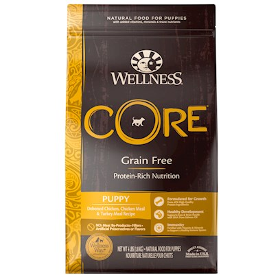 Wellpet Presents Wellness Core Grain Free Puppy Formula 12 Lbs. Wellness® Core® is Based on the Nutritional Philosophy that Pets, Based on their Primal Ancestry, Thrive on a Diet Mainly Comprised of Meat. Each Formula is Packed with a High Concentration of Quality Animal Protein, without Fillers or Grains, Along with a Proprietary Blend of Botanicals and Nutritional Supplements Including Probiotics. Unlike Many Grain-Free Diets, Wellness Ensures the Overall Nutrition Equation Remains Appropriate for Everyday Feeding. Higher Protein can also Mean Higher Fat, Minerals and Calories. By Thoughtfully Selecting Specialized Ingredients and Managing Nutritional Ratios, Wellness Core Delivers Protein-Focused Nutrition - with Balance, not Excess.' ' [37280]