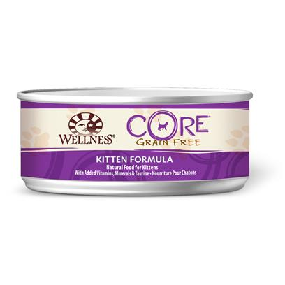 Wellpet Presents Wellness Core Grain Free Kitten Formula Canned 5.5oz-Case of 24. 'Wellness Core is Based on the Nutritional Philosophy that Pets, Based on their Primal Ancestry, Thrive on a Diet Mainly Comprised of Meat. Each Formula is Packed with a High Concentration of Quality Animal Protein, without Fillers or Grains, Along with a Proprietary Blend of Botanicals and Nutritional Supplements Including Probiotics. Unlike Many Grain-Free Diets, Wellness Ensures the Overall Nutrition Equation Remains Appropriate for Everyday Feeding. Higher Protein can also Mean Higher Fat, Minerals and Calories. By Thoughtfully Selecting Specialized Ingredients and Managing Nutritional Ratios, Wellness Core Delivers Protein-Focused Nutrition - with Balance, not Excess. Wellness Core Grain-Free Kitten Formula Features High Quality Protein Sources to Support Higher Energy Needs. Herring Serves as a Natural Source of Dha and the Formula also Includes Berries and Botanicals. The Formula is also Grain-Free and Gluten-Free.' [37282]