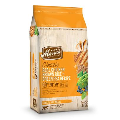Buy Merrick Dry Dog Food products including Merrick Grain Free Real Chicken and Sweet Potato 12lb Bag, Merrick Grain Free Real Chicken and Sweet Potato 25lb Bag, Merrick Grain Free Real Buffalo and Sweet Potato 12lb Bag, Merrick Grain Free Real Buffalo and Sweet Potato 25lb Bag Category:Dry Food Price: from $15.49