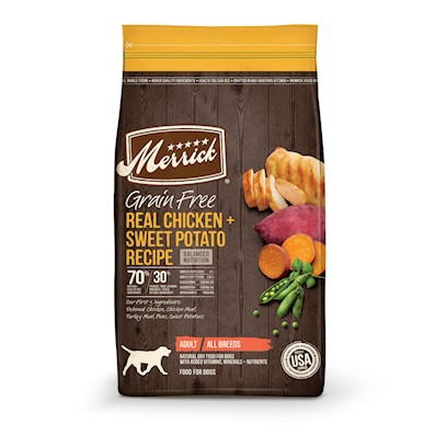 Merrick Grain Free Real Chicken and Sweet Potato