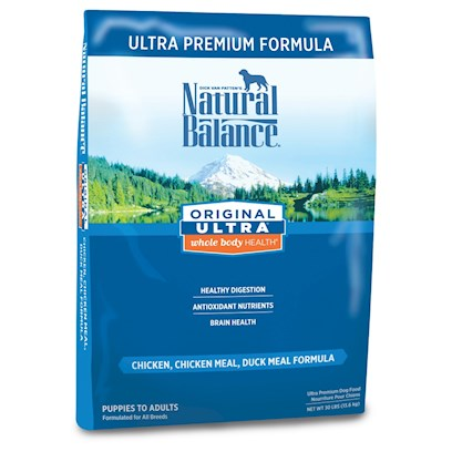 Natural Balance Presents Natural Balance Original Ultra Premium Dry Dog Food 15lb Bag. Natural Balance Original Ultra Premium Dry Dog Food is a Great Foundational Diet with Multiple Proteins and Multiple Grains.This Premium Formula is Complete and Balanced for all Breeds and Life Stages from Puppies to Adults. With Ingredients Like Fresh Chicken, Lamb Meal, Duck Meal, Brown Rice, Fresh Carrots and Oatmeal you can Rest Assure that your Best Friend is Eating a Well Balanced Diet. [37383]