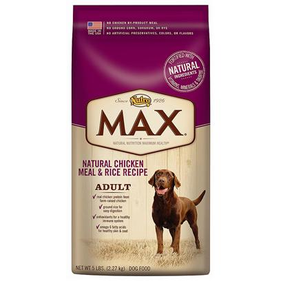 Nutro Presents Nutro Max Natural Chicken Meal &amp; Rice Recipe Adult Dog Food 30lb Bag. Max Natural Chicken Meal &amp; Rice Large Breed Adult Dog Food is Formulated for the Specific Needs of a Large Breed Dog, and Made in the Usa Using only the Finest Ingredients that can be Traced Back to their Source  Like Real Chicken Protein from FarmRaised Chickens and Whole Grain Rice and Wheat. And because we only Use the Best Ingredients, You'll Never Find any Chicken byProduct Meal, Ground Corn, Sorghum, Rye or any Artificial Colors, Flavors or Preservatives. We're Committed to Provide Great Tasting, Natural Nutrition so your Dog will Live a Long, Healthy Life. [37390]